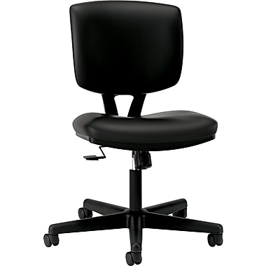 HON  Volt  Leather Task Chair With Synchro-Tilt, Black