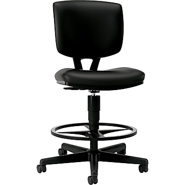 HON® Volt® Leather Adjustable Task Stool, Black
