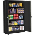 Tennsco Assembled Jumbo 24in.D Steel Storage Cabinet, Black