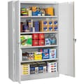 Tennsco Assembled Jumbo 24in.D Steel Storage Cabinet, Light Gray