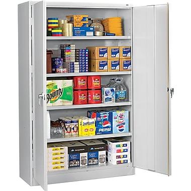 Tennsco Assembled Jumbo 24in.D Steel Storage Cabinet, Light Gray