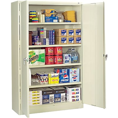 Tennsco Assembled Jumbo 24in.D Steel Storage Cabinet, Putty