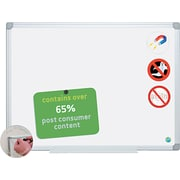 "MasterVision® Dry Erase Board, 36""H x 48""W, Silver Frame/White Surface"