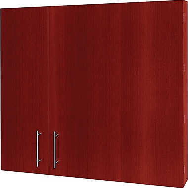 MasterVision Conference Cabinet, 48in.H x 48in.W x 5in.D, Cherry Frame/White Surface