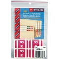Smead  Alpha-Z Color-Coded Alphabetical Labels Second Letter Package Set R, Purple
