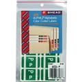 Smead  Alpha-Z Color-Coded Alphabetical Labels Second Letter Package Set P, Dark Green