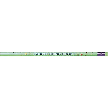 Moon Products Woodcase Pencil, HB-Soft, No. 2 Lead, Green Barrel, Caught Doing Good, 12 / Pack
