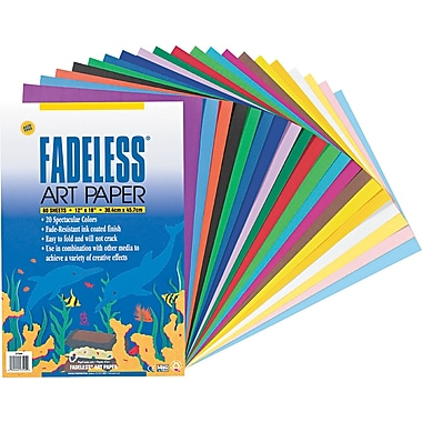 Pacon ® Fadeless ® Assorted Paper, Assorted, 12in.(W) x 18in.(L), 60/Pack