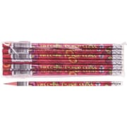 Moon Products Woodcase Pencil, HB-Soft, No. 2 Lead, Red Barrel, Welcome To Our Class, 12 / Pack