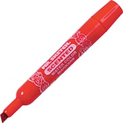 Mr. Sketch  Scented Watercolor Marker, Chisel Tip, Red/Cherry, Dozen