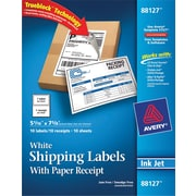 Avery® 88127 White Shipping Label, 5 1/16(W) x 7 5/8(L), 10/Pack