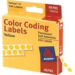"Avery  05792 Permanent Self-Adhesive Round Color-Coding Label, Yellow, 1/4""(Dia), 450/Pack"