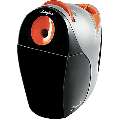 Swingline ® Optima Desktop Electric Pencil And Crayon Sharpener, Gray/Orange