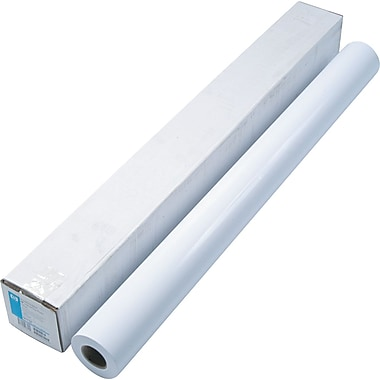HP Designjet Large Format Dry Gloss Photo Paper For Inkjet Printers, White, 42in.(W) x 100'(L), 1/Roll