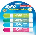 EXPO® Low Odor Dry Erase Marker, Chisel Tip, Assorted, 4/Set