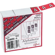 Smead® 66720 Red Color-Coded Laminated Paper Alphabetical Label, 1(W) x 1 1/2(L), 500/Roll
