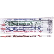 Moon Products Woodcase Pencil, HB-Soft, No. 2 Lead, White Barrel, Second Graders Are #1, 12/Pack