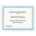 Geographics ® Certificate For Copiers, Laser And Inkjet Printers, Blue, 8 1/2in.(W) x 11in.(L), 50/Pack