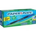 Paper Mate® Write Bros.® Recycled Stick Ballpoint Pen, 1 mm Medium, Blue, Dozen