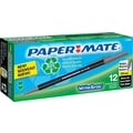 Paper Mate® Write Bros.® Recycled Stick Ballpoint Pen, 1 mm Medium, Black, Dozen