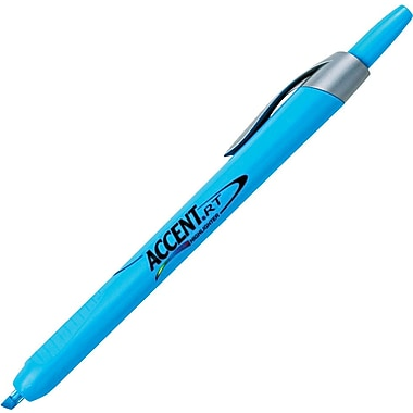 Sharpie® Accent Retractable Highlighter, Chisel Tip, Blue