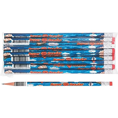 Moon Products Woodcase Pencil, HB-Soft, No. 2 Lead, Blue Barrel, Super Reader, 12/Pack