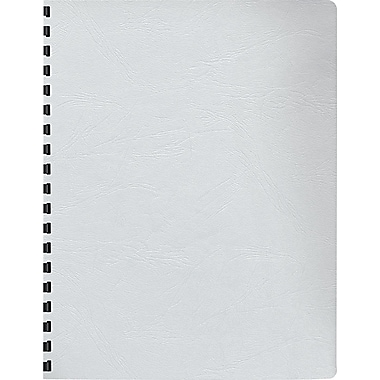 Fellowes® Expressions™ Grain Texture Presentation Cover, 8 3/4in.(W) x 11 1/4in.(L), White