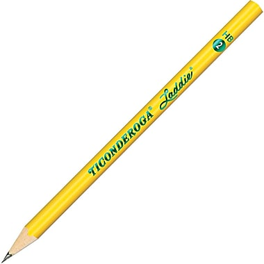 Dixon ® Woodcase Pencil Without Eraser, HB-Soft, No. 2 Lead, Yellow Barrel, 12/Pack