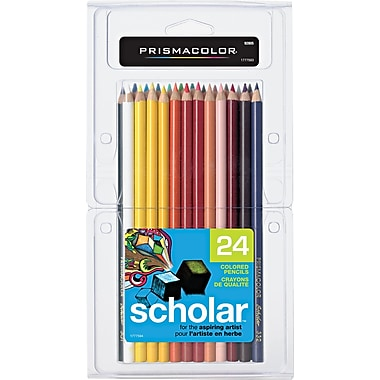 Prismacolor® Scholar Colored Pencils, Assorted Colors, 24/pk (92805)
