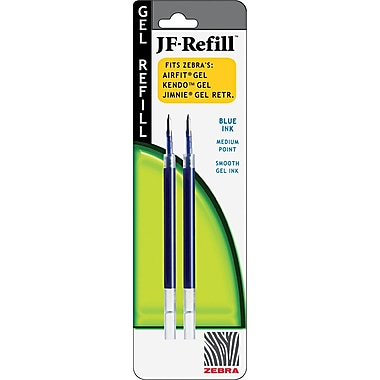 Zebra JF Refill For Jimnie ®, Sarasa , Orbitz, Z-Grip, GR8 Gel Roller Ball Pen, Medium, Blue