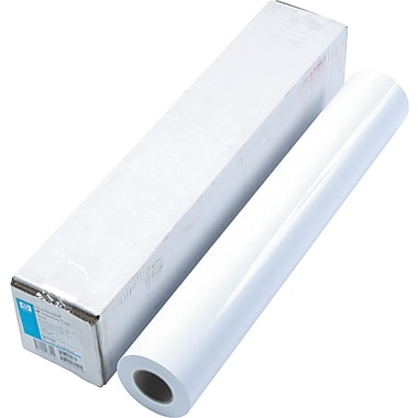 HP Designjet Large Format Dry Gloss Photo Paper For Inkjet Printers, White, 24in.(W) x 100'(L), 1/Roll