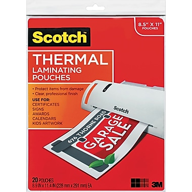 Scotch® Laminating Pouch, 3 mil, 11 1/2in.(H) x 9in.(W), 20/Pack