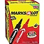 Marks-A-Lot Permanent Marker, 3/16 Large Chisel Tip, Assorted,