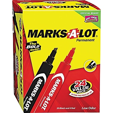 Marks-A-Lot® Permanent Marker, 3/16