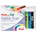 Pentel  Fabric Fun  Pastel Dye Stick, Assorted, 7/Pieces