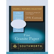 SOUTHWORTH® Granite Specialty Paper, 8 1/2 x 11, 24 lb., Granite Finish, Gray, 0/Box
