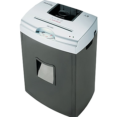 HSM of America X18 Light-Duty Shredder, 18 Sheet Capacity, 9.8 ft/min Speed