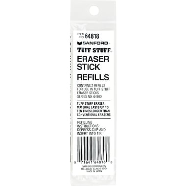 Paper Mate ® Tuff Stuff Small Eraser Refill, Small, White