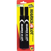 Avery Marks-A-Lot Chisel Point Permanent Marker, Black, 2/Pack