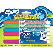 Expo Fine Point Dry-Erase Marker, Assorted, 6/Pack