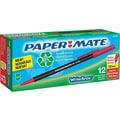 Paper Mate® Write Bros.® Recycled Stick Ballpoint Pen, 1 mm Medium, Red, Dozen