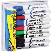 Marks-A-Lot® Desk Style Dry Erase Marker, Chisel & Bullet Tips, Assorted, 24/Pack