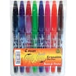 Pilot® FriXion Ball Erasable Gel Pen, 0.5 mm Needle, Assorted, 8/Pack