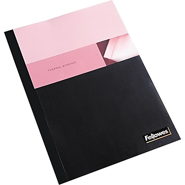 Fellowes® Linen Texture Presentation Cover, 9 3/4in.(W) x 11 1/8in.(L), Clear/Black