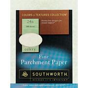 SOUTHWORTH® Parchment Specialty Paper, 8 1/2 x 11, 24 lb., Parchment Finish, Celery, 100/Box