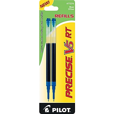 Pilot ® Refill For Precise V5 RT Rolling Ball Pen, Extra Fine, Blue