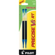 Pilot Precise V5 RT Rolling Ball Refills, Extra Fine Point, Blue, 2/Pack (77274)