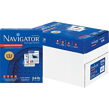Navigator  Premium Multipurpose Copy Paper, White, 8 1/2in.(W) x 11in.(L), 5000/Ctn
