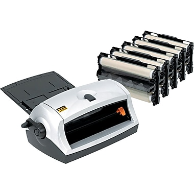 Scotch ® Heat-Free Laminator, 8 1/2in. Wide, Black/Silver, Up To 9.2 mil (T) Pouch, Value Pack