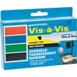 EXPO ® Vis-a-Vis ® Wet Erase Marker, Chisel Tip, Assorted, 4/Set